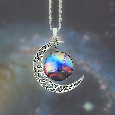 Creative Necklace Galaxy Space Nebula Sun Celestial Moon Pendant 12 Styles