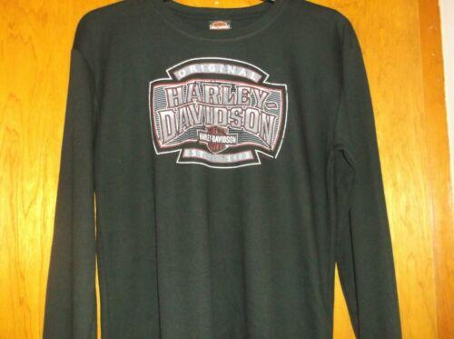 "Harley-Davidson Men/'s Black XL Long Sleeve Thermal Shirt /""H-D Shield/"""