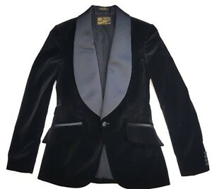 79b636c2126 $1400 DOUBLE RL RRL RALPH LAUREN WOMEN'S VELVET TUXEDO JACKET BLACK ...