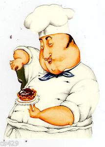 Image Is Loading 5 034 FAT CHEF COOK BAKER PASTRY KITCHEN