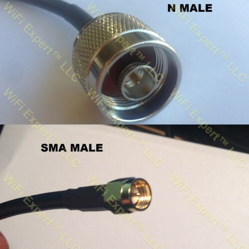 USA-CA RFC400 N MALE to SMA MALE Coaxial RF Pigtail Cable