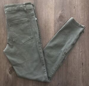 Skinny Cottonon Women's Denim Jeans ~ Size 4 ~ Green ~ Mid Rise ~ Skinny
