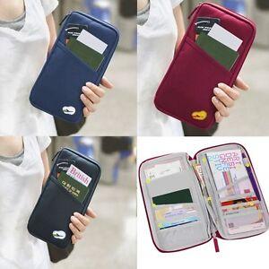 Travel-Bag-Wallet-Purse-Document-ID-Holder-Organiser-Zipped-Passport-Tickets-Zip