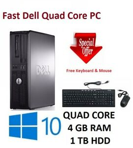 Rapide-Dell-Quad-Core-PC-Windows-10-WiFi-8-Go-RAM-1-To-Disque-Dur