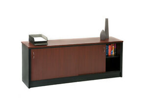 BUFFET or CREDENZA Business Office Furniture and Office Desks sliding doors