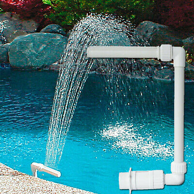 Swimming Pool Waterfall Fountain Water Feature Garden Decoration | eBay