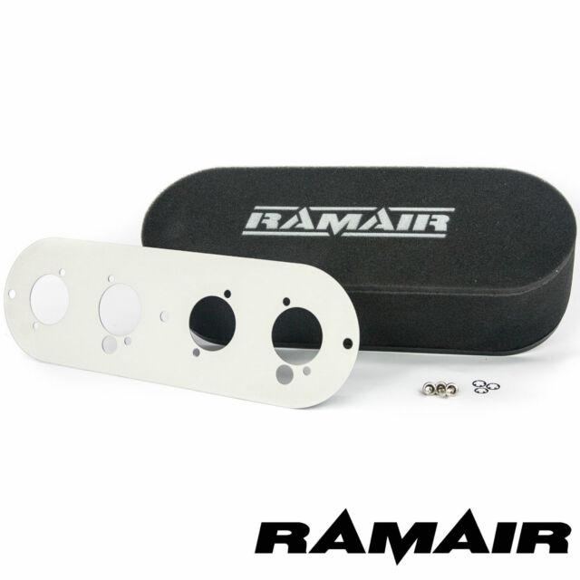 Ramair Twin Vergaser Schrauben auf Schaumstoff Luftfilter Grundplatte MG Pinto