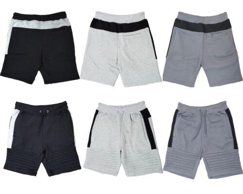 Brand New Mens Contrast Panel Fleece Shorts Size S M L XL