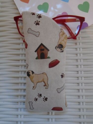 PUG GLASSES CASE PUGS DOG DOGS DOGS VISION CASES GIFT NEW UNIQUE PET CUTE FUN!