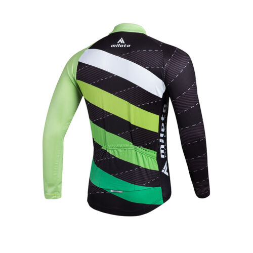 Twill Men/'s Cycling Shirts Long Sleeve Cycling Biking Jersey Tops Reflective