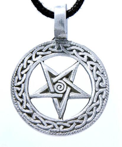 Pentagramm Zinn 4 Modelle Band//Kette  Satan Satanist Luzifer Anhänger Pewter