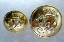 Button- Staybrite Royal Army Uniform Buttons 25, 18 mm 2 pcs, GAUNT