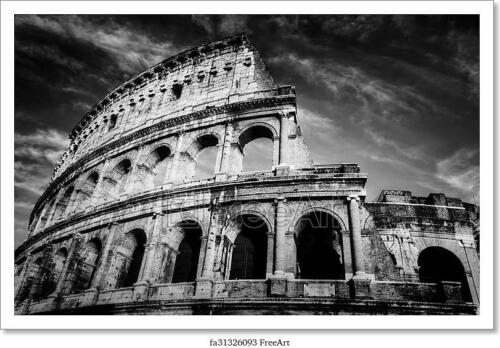 Colosseum In Rome Italy Home Decor Poster Art//Canvas Print H Wall Art