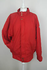 VTG SPORTS ADIDAS RED RETRO 90S SKI COAT JACKET BRIGHT FESTIVAL WINDBREAKER UK M