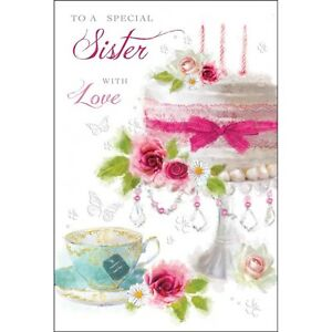 Sister birthday card special sister luxury card lovely verse sister birthday card special sister luxury card lovely bookmarktalkfo Choice Image