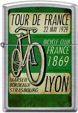 Zippo Tour De France 22 May Bicycle Club Lyon 1869 Retro Poster Street Chrome