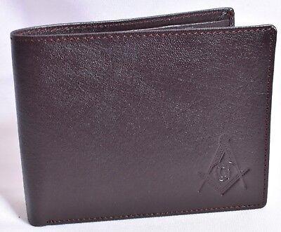 MGL Men/'s Genuine Leather Bifold Wallet Brown//Black and BrandNew