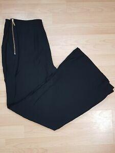 M-amp-S-Ladies-Black-Bootleg-Tailored-Trousers-Size-10-BNWT-Work-Smart-Career