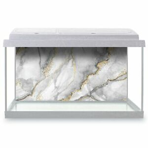Fish-Tank-Background-90x45cm-Grey-White-Gold-Marble-Effect-Pattern-24432
