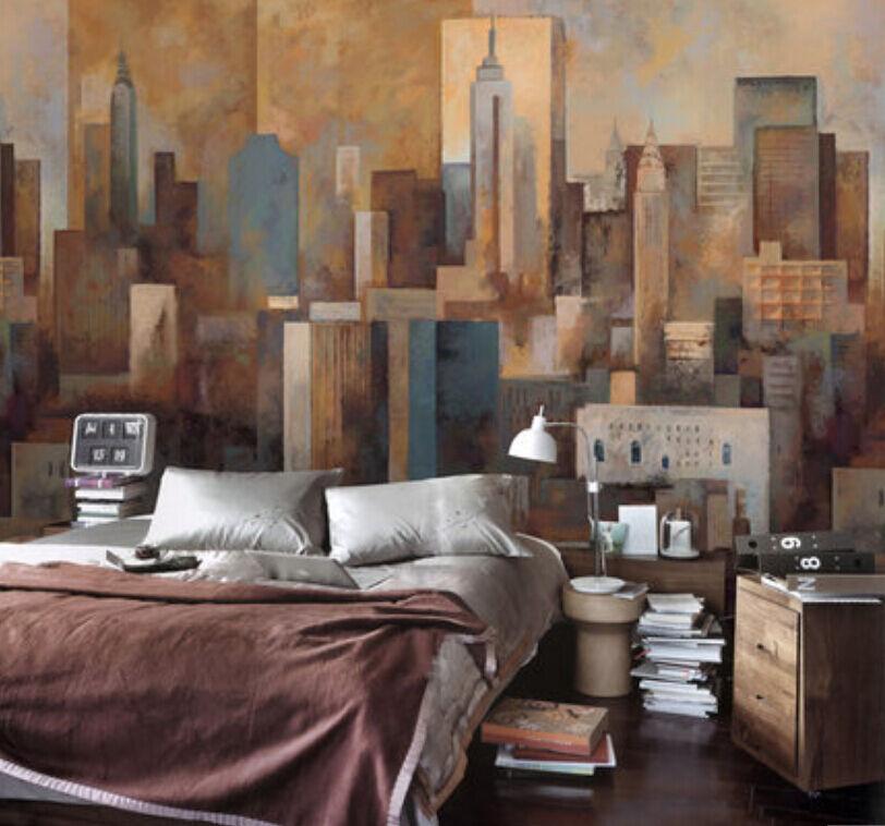 3D Abstract city 1 WallPaper Murals Wall Print Decal Wall Deco AJ WALLPAPER