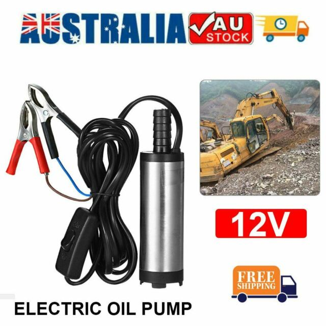 12V Electric Diesel Pump Kerosene Oil Fuel Water Transfer Aluminium Vessel Auto