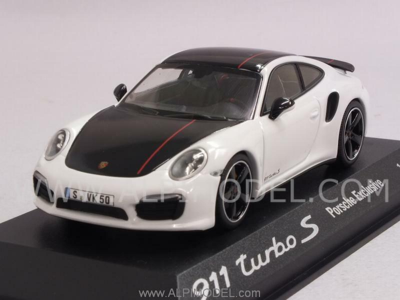 Porsche 911 Turbo S 2014 bianca nero Porsche Promo 1 43 MINICHAMPS WAX20130026