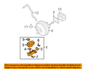 nissan oem brake master cylinder 460107s20a ebay rh ebay com