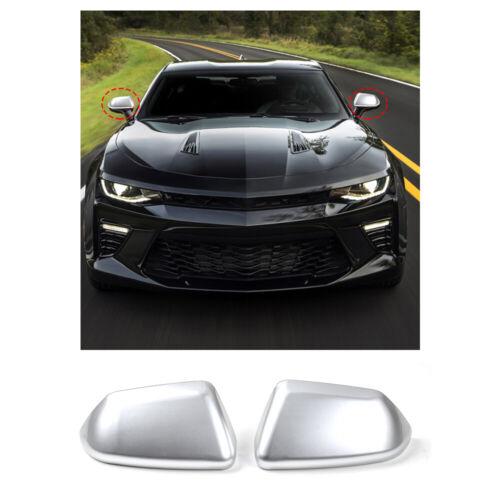 2pcs Sliver Rear View Side Mirror Cover Caps Trim For 2017 Chevrolet Camaro