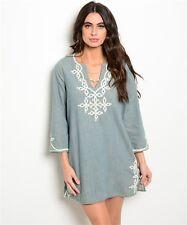 S Ethnic Cotton Boho Gypsy Hippie Peasant YOGA Kurta Top Blouse Tunic Dress