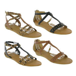 5f19cc56e5a Open Toe Flip Flop Buckle Small Wedge Summer Womens Studded Sandals ...