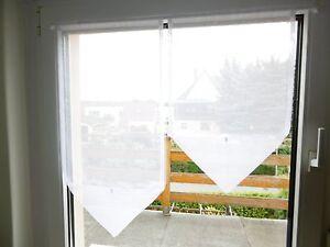 scheibengardine fenster 80cm gardine scheibengardinen 2 teile 40cm 80 60 lang ebay. Black Bedroom Furniture Sets. Home Design Ideas