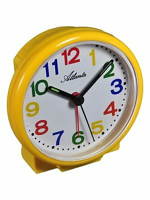 Atlanta Kids' Alarm Clock Yellow Quartz Analog For Children 069/2 Neu Home & Garden Alarm Clocks & Clock Radios