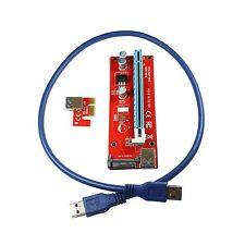 PCI-E Express 16x 8x 4x 2x zu 1x Extender Riser Adapter Card, SATA, DHL-Versand