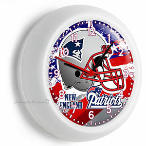New England Patriots Nfl Football Team Logo Wall Clock Man Cave Bedroom Decor Ebay