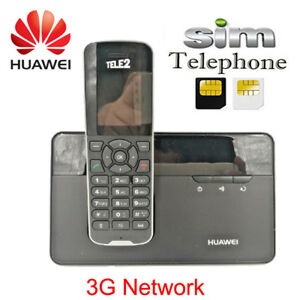 Cordless-Phone-amp-Handsets-Huawei-F685-DECT-Desktop-Home-Phone-W-Sim-Card-Slot