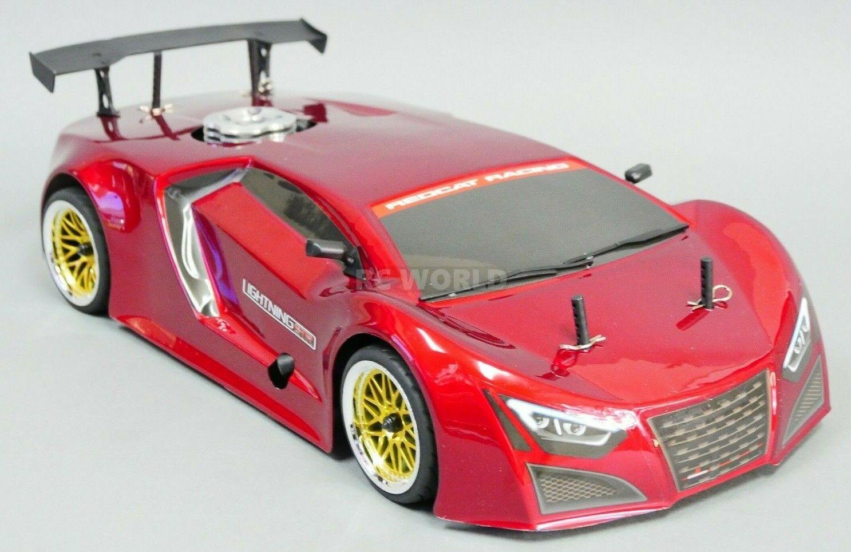 1 10 RC Nitro auto  4wd Gas On-strada Race auto 2 Speed w  Stagger ruedas nuovo RTR  economico e alla moda