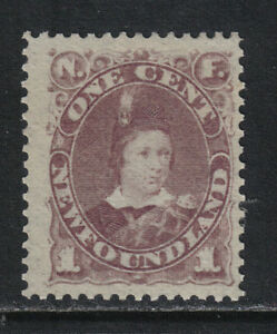 Newfoundland-1880-96-Prince-of-Wales-1c-violet-brown-Attractive-Topical-41-MH