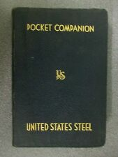 POCKET COMPANION by UNITED STATES STEEL  H/B  1937