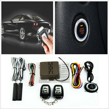 Car SUV Alarm System Keyless Entry Button Engine Start Push Starter +Remote Kits