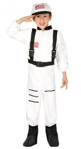 enfants-Costume-Astronaute-Cosmonaute-Deguisement-NASA-ESPACE-amp-CHAPEAU-4-12-Ans