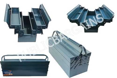 HEAVY DUTY METAL TOOL BOX 3 TIER CANTILEVER WORKSHOP TOOL BOX 5 SECTION
