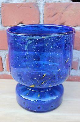 Große Formschöne Blaue Wmf Ikora Vase - 60er Jahre - Schöner Farbverlauf