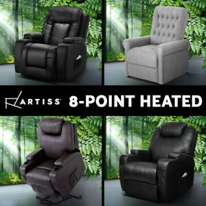 Details about Artiss Recliner Chair Electric Massage Chair Lift Lounge Sofa Leather Armchair