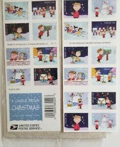 A Charlie Brown Christmas 20 Forever Stamps Holiday Peanuts