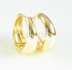 Image Is Loading Fashion1uk Women Men 19mm Huggie Hoop Earrings 14k