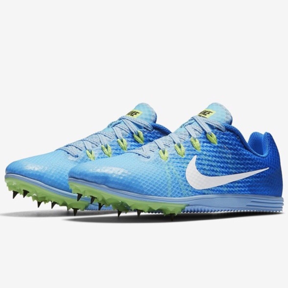 NIKE RIVAL D DISTANCE SPIKES LOW SNEAKER WOMEN SHOES blueE 06560-401 SIZE 10 NEW