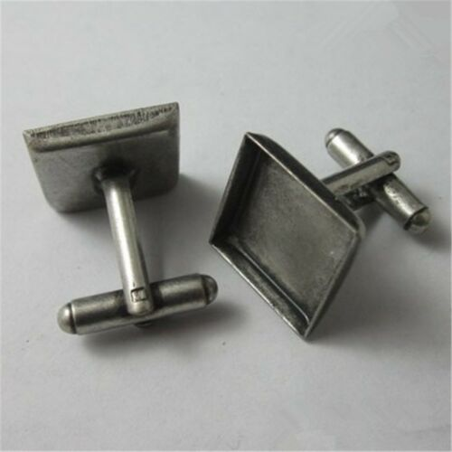 10PCS Multicolor Square Cufflinks Set for Men Jewelry Gift Tie Clips Pin Clasp