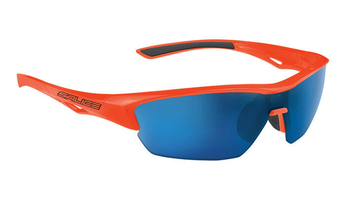 SALICE 011 Sport Sunglasses orange    bluee includes case and extra clear lens  famous brand
