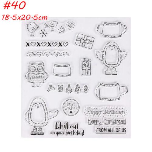 transparente stempel silikon klar kautschuk scrapbooking frohe weihnachten