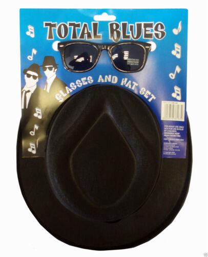 BRAND NEW BLUES BROTHERS HAT /& GLASSES SUNGLASSES COSTUME FANCY DRESS H38 163